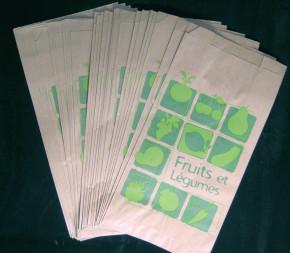 Lot de 1 000 sacs papier Kraft de 1 ou 2 kg