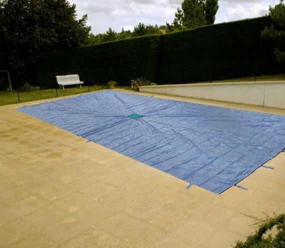 B che piscine avec filet central for Bache filet piscine