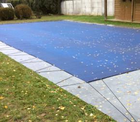 Nappe d'hivernage pour piscine 5.5x10.5m