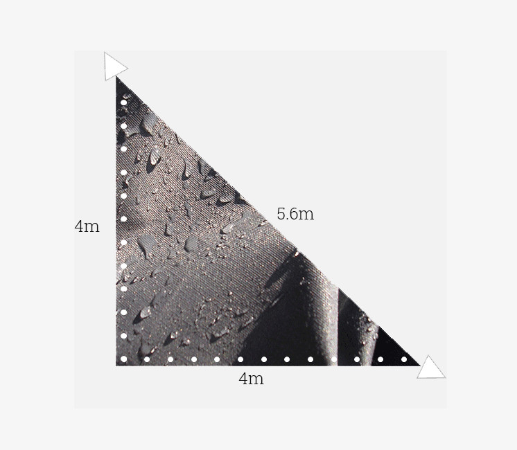 Toile imperméable 4x4x5.6m Anthracite