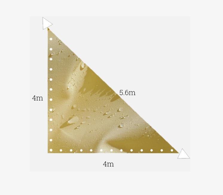 Toile imperméable 4x4x5.6m ivoire