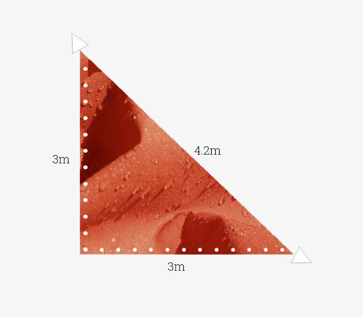 Toile imperméable 3x3x4.2m terracotta
