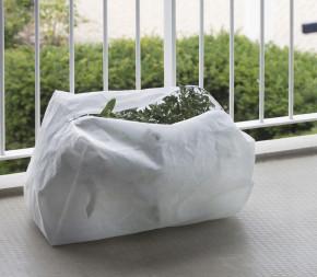 Housse d'hivernage 70g/m² pour jardinière avec fermeture par zip.