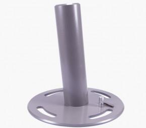 Embase platine ronde pour poteau télescopique de voile d'ombrage